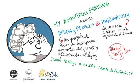Draw&pedal at the Pantumacona in Barcelona